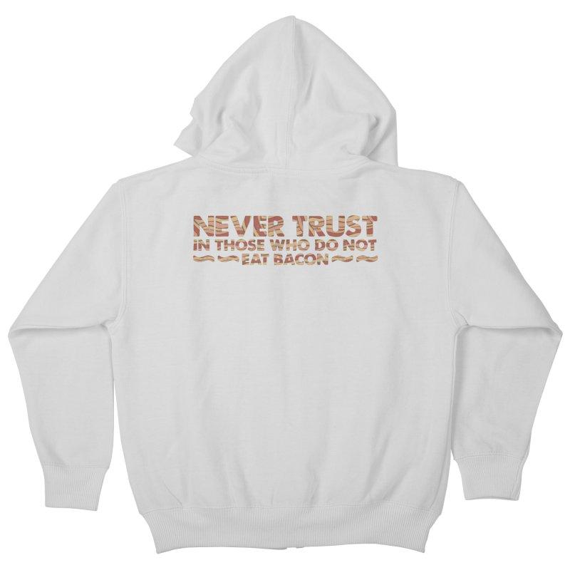 ~ NEVER TRUST ~ Kids Zip-Up Hoody by Origine's Shop