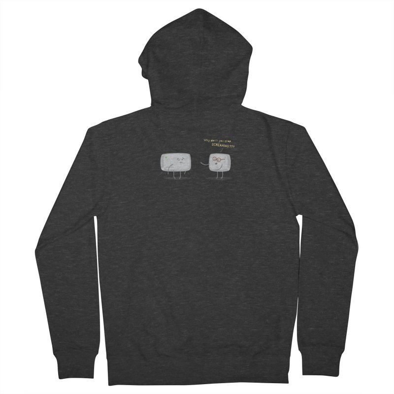 STOP SCREAMING Women's French Terry Zip-Up Hoody by Origine's Shop