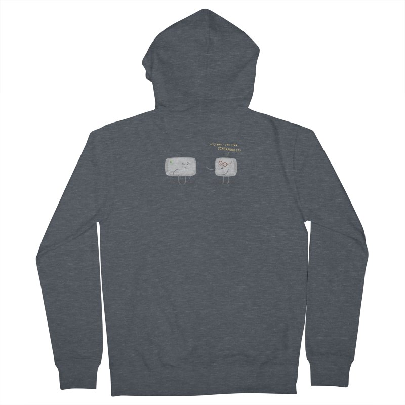 STOP SCREAMING Men's French Terry Zip-Up Hoody by Origine's Shop