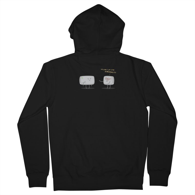 STOP SCREAMING Men's Zip-Up Hoody by Origine's Shop