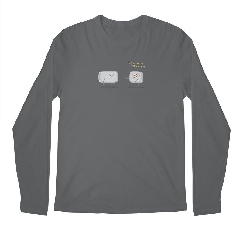 STOP SCREAMING Men's Longsleeve T-Shirt by Origine's Shop