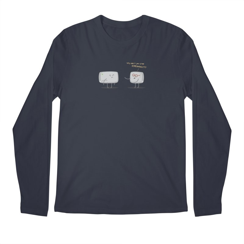 STOP SCREAMING Men's Regular Longsleeve T-Shirt by Origine's Shop
