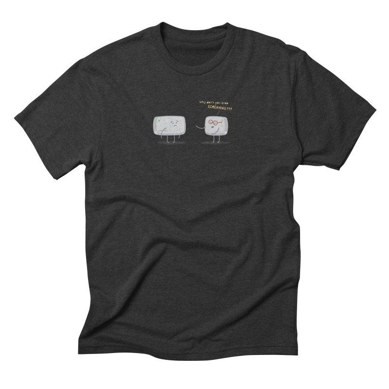 STOP SCREAMING Men's Triblend T-Shirt by Origine's Shop