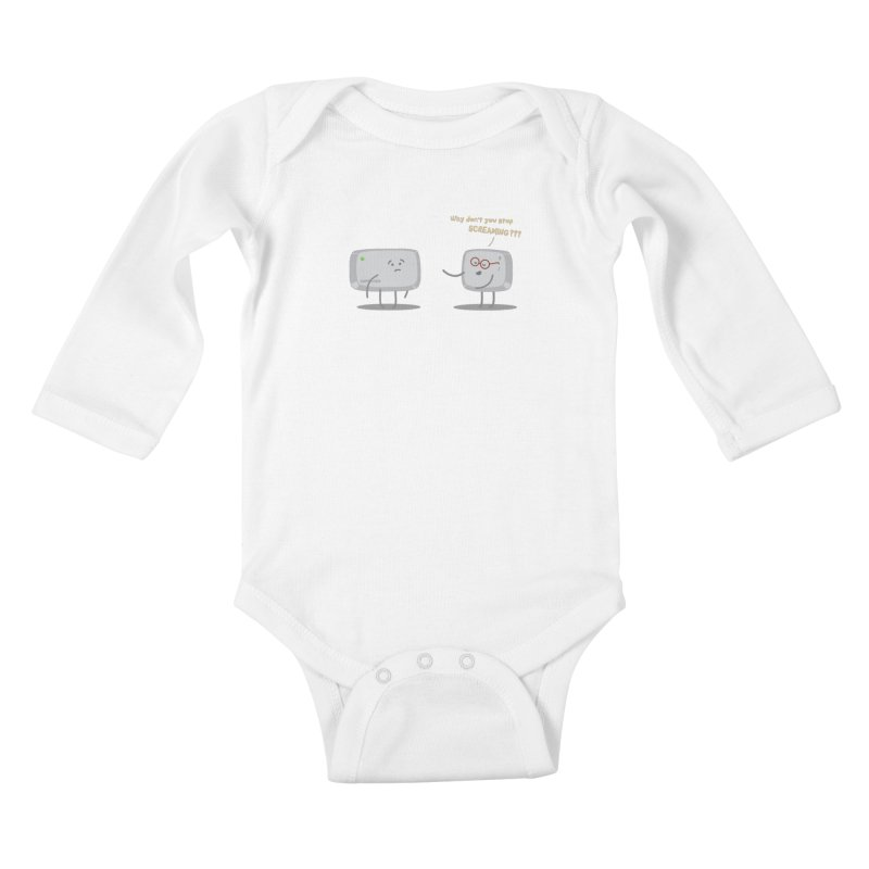 STOP SCREAMING Kids Baby Longsleeve Bodysuit by Origine's Shop