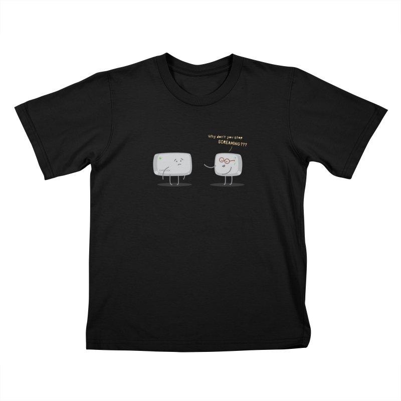 STOP SCREAMING Kids T-Shirt by Origine's Shop
