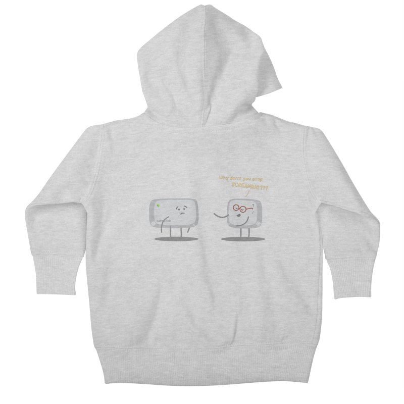 STOP SCREAMING Kids Baby Zip-Up Hoody by Origine's Shop