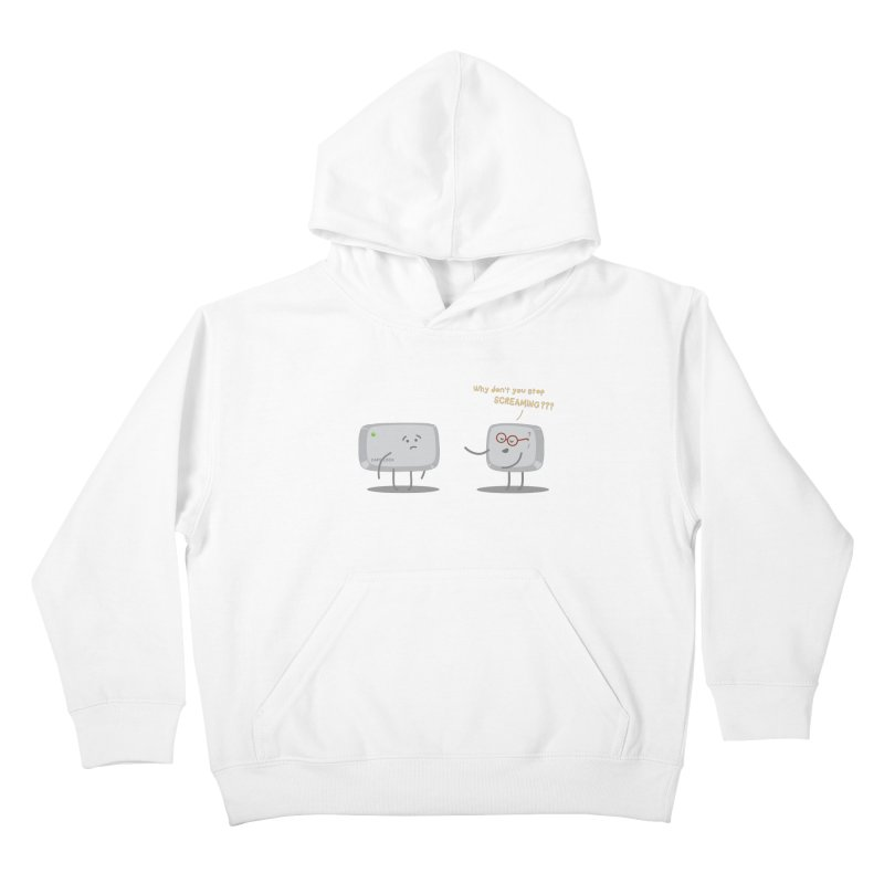 STOP SCREAMING Kids Pullover Hoody by Origine's Shop