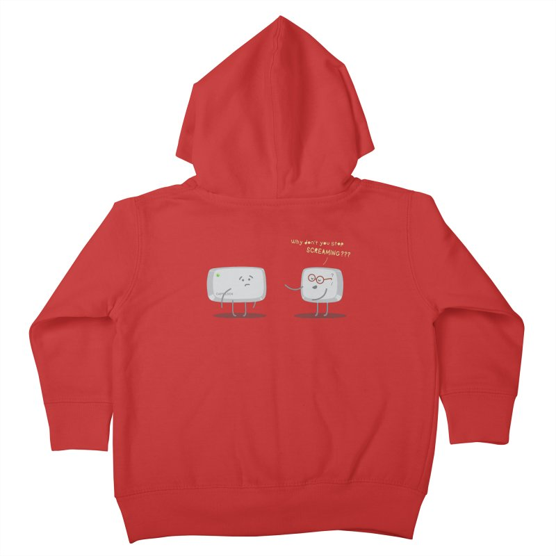 STOP SCREAMING Kids Toddler Zip-Up Hoody by Origine's Shop