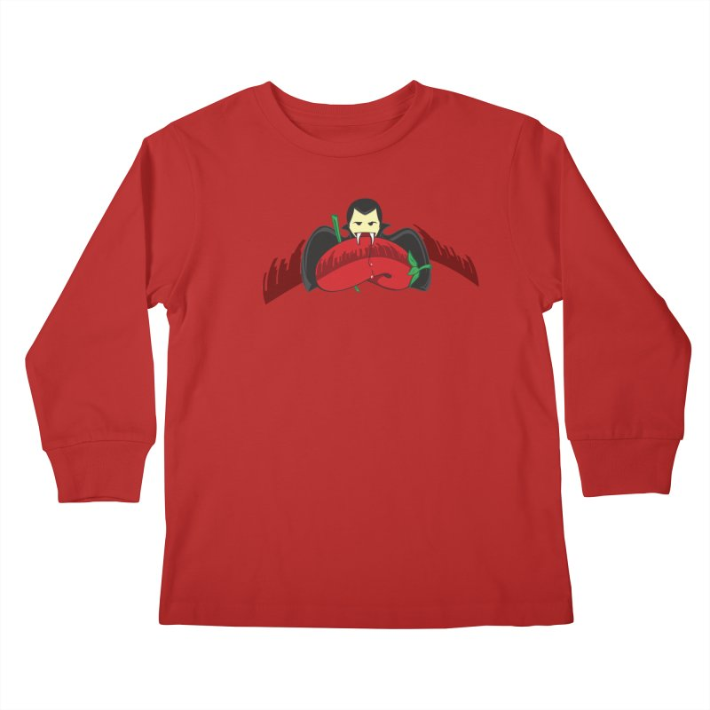 Bloody Drink (㇏(•̀ᵥᵥ•́)ノ) Kids Longsleeve T-Shirt by Origine's Shop