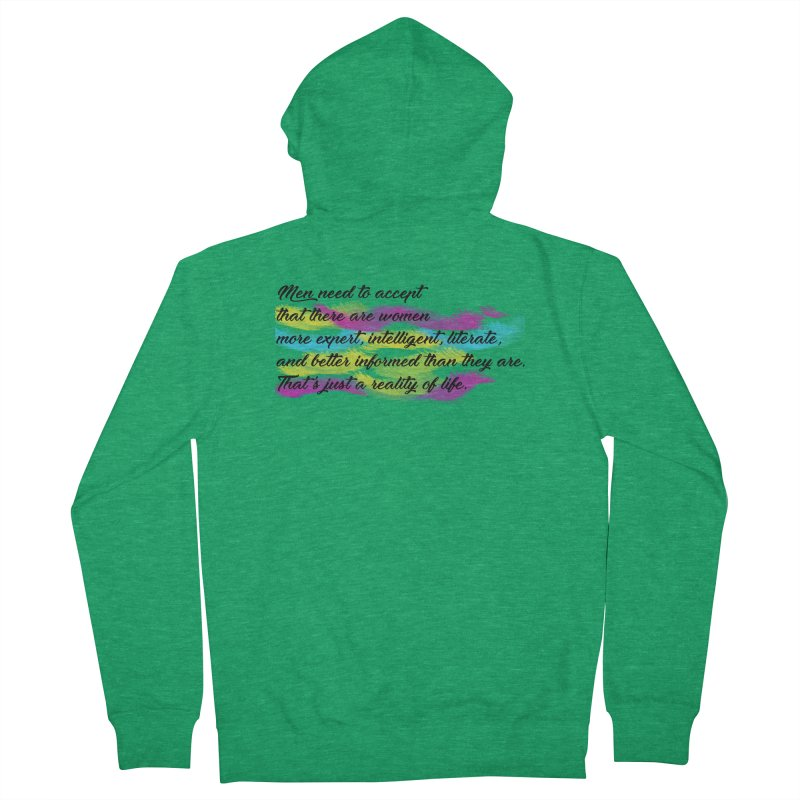 Women Are Experts Too Men's Zip-Up Hoody by originlbookgirl's Artist Shop