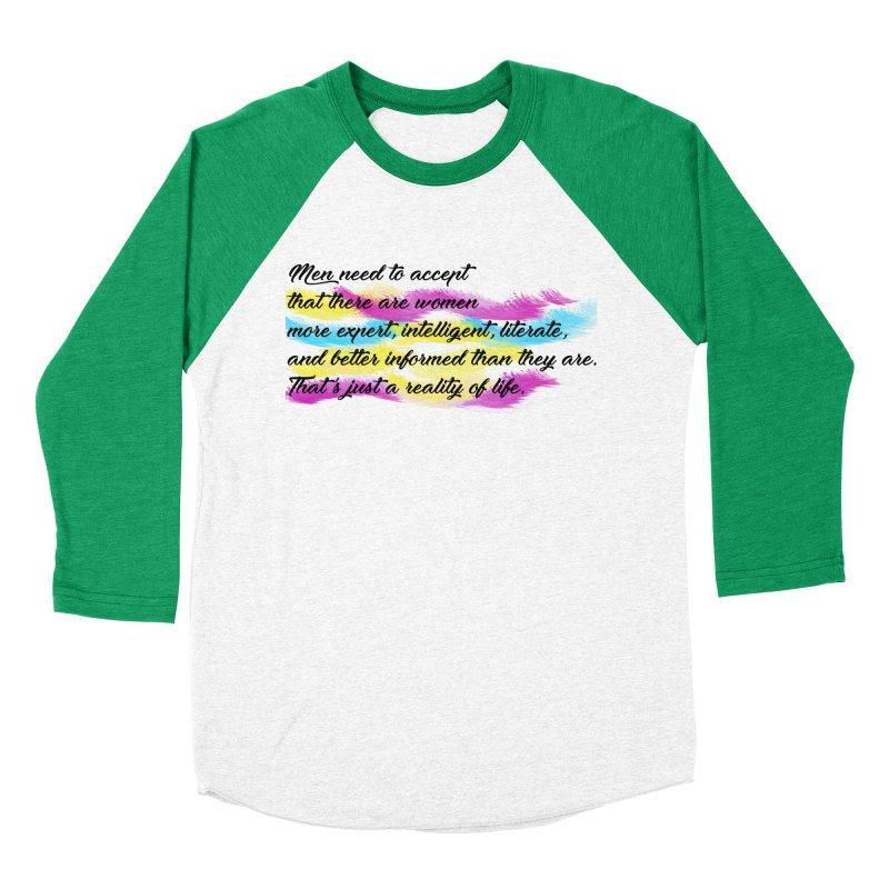 Women Are Experts Too Men's Baseball Triblend T-Shirt by originlbookgirl's Artist Shop