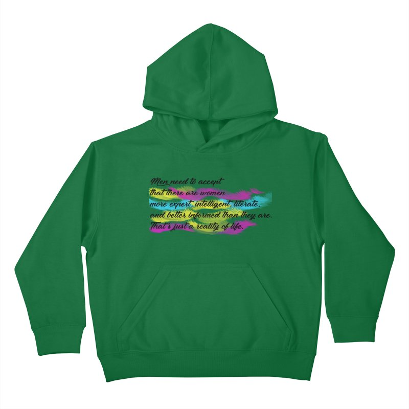 Women Are Experts Too Kids Pullover Hoody by originlbookgirl's Artist Shop