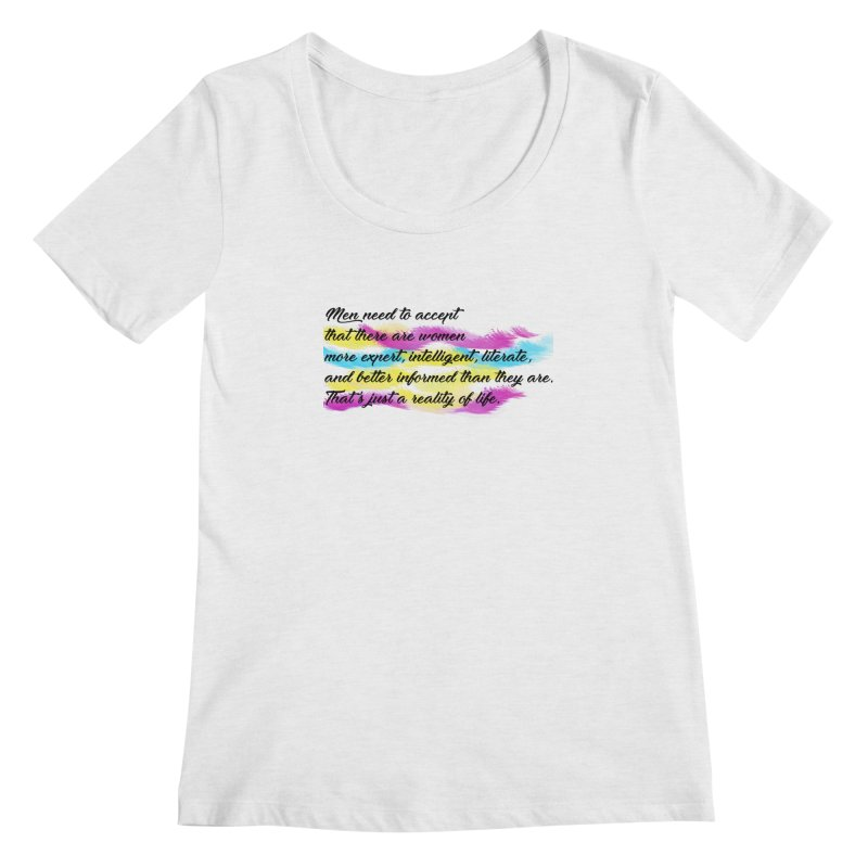 Women Are Experts Too Women's Scoopneck by originlbookgirl's Artist Shop