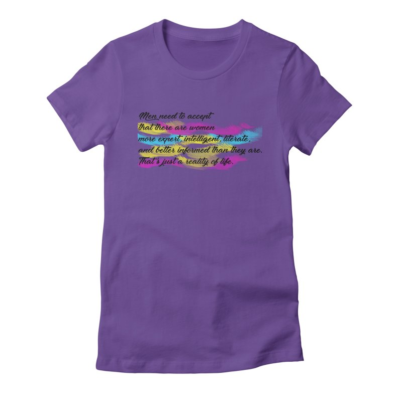 Women Are Experts Too Women's Fitted T-Shirt by originlbookgirl's Artist Shop