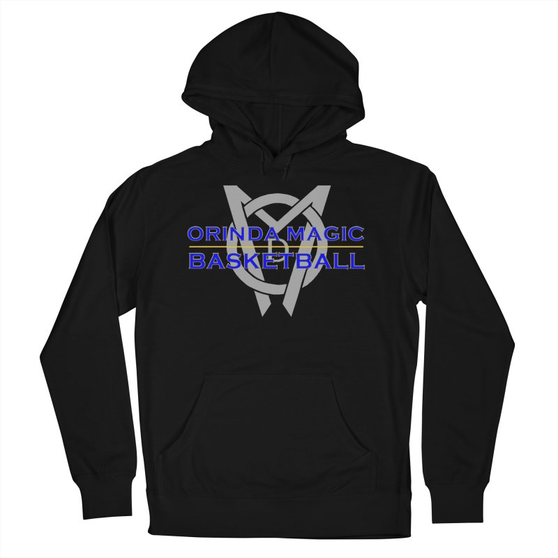 OMB Blue w LOGO, 2017 Coaches' Shirt Men's French Terry Pullover Hoody by Orinda Magic Spirit Gear