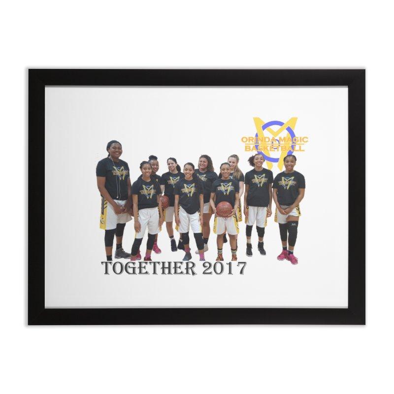 BLACK Together 2017 Home Framed Fine Art Print by Orinda Magic Spirit Gear