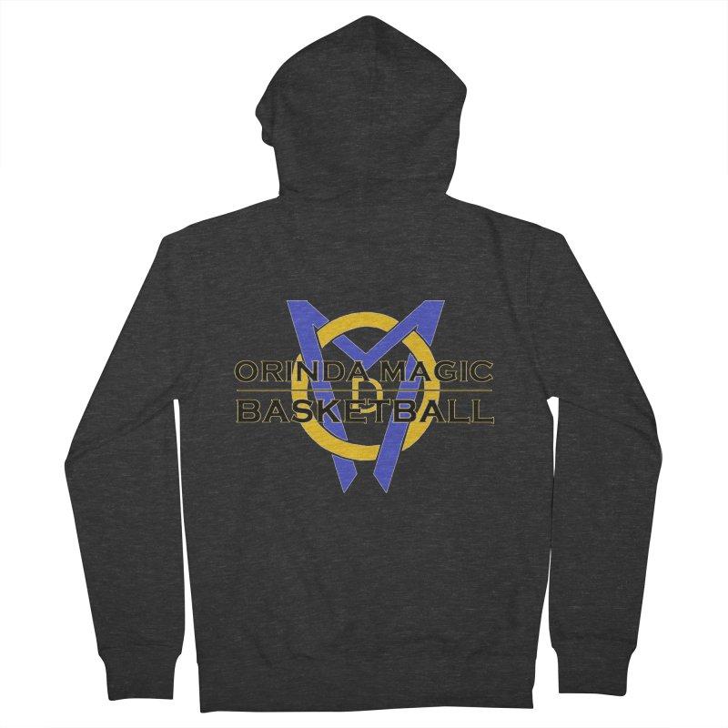 3c Black OMB w/Logo Design Men's French Terry Zip-Up Hoody by Orinda Magic Spirit Gear