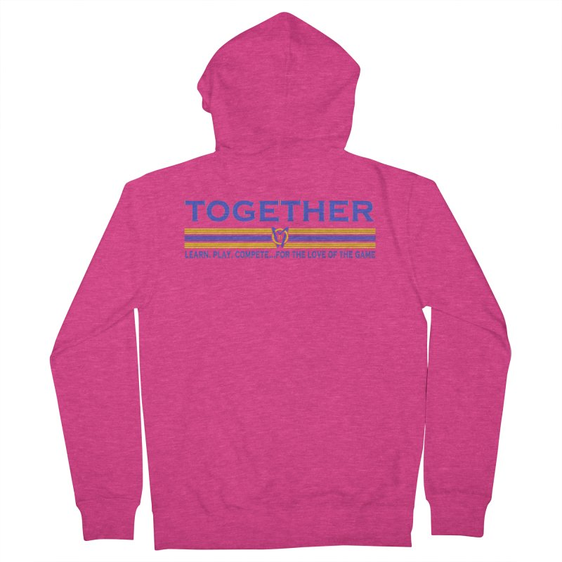 2 Blue Together w/LPC Design Women's French Terry Zip-Up Hoody by Orinda Magic Spirit Gear