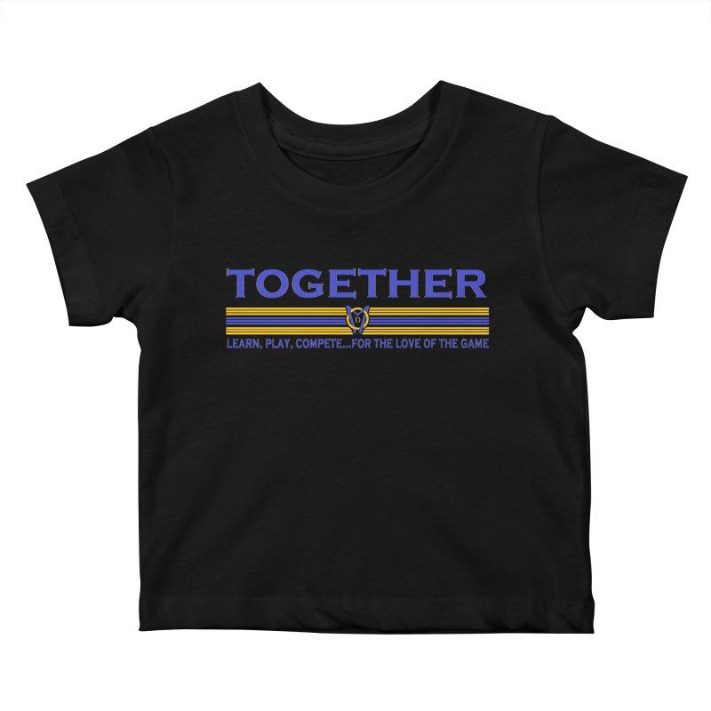 2 Blue Together w/LPC Design Kids Baby T-Shirt by Orinda Magic Spirit Gear