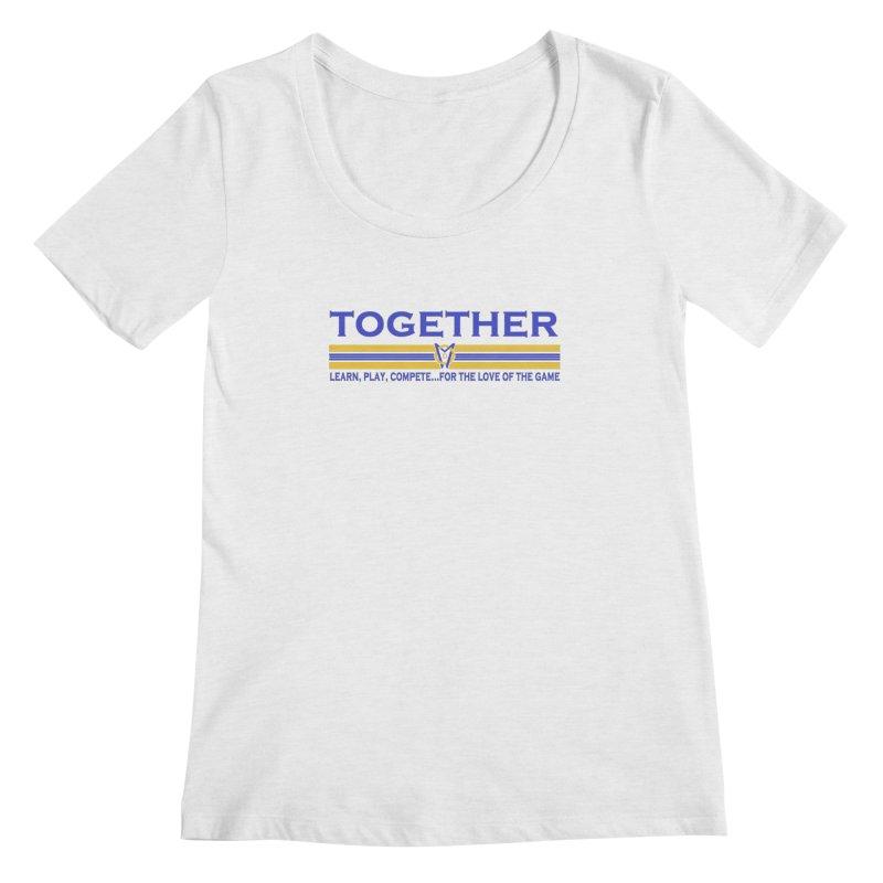 2 Blue Together w/LPC Design Women's Regular Scoop Neck by Orinda Magic Spirit Gear