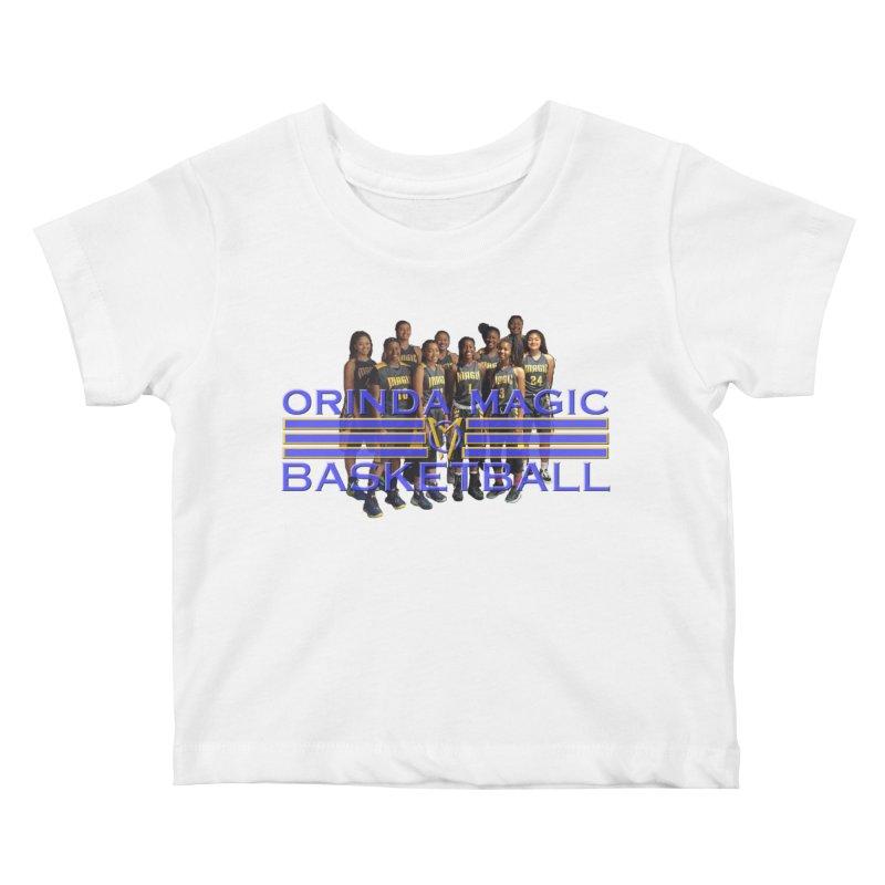 BLACK OM BBALL Bevel 2 Kids Baby T-Shirt by Orinda Magic Spirit Gear