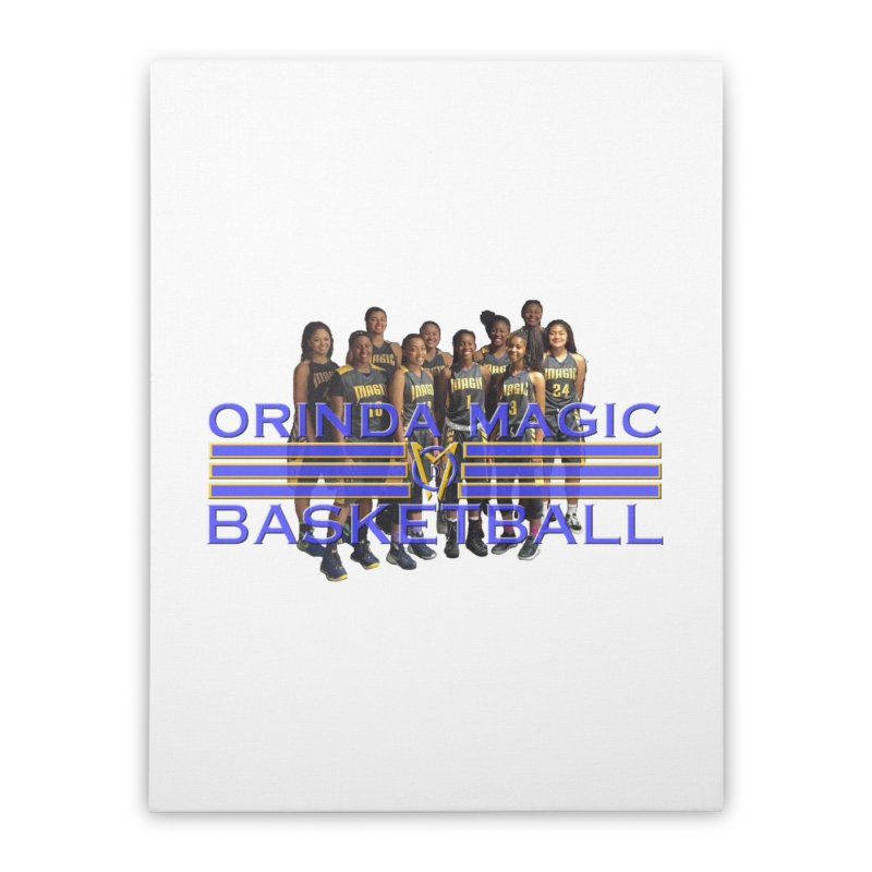 BLACK OM BBALL Bevel 2 Home Stretched Canvas by Orinda Magic Spirit Gear