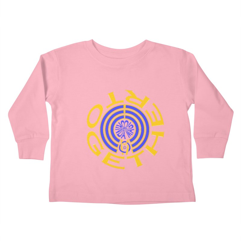 OM Together Swirl Kids Toddler Longsleeve T-Shirt by Orinda Magic Spirit Gear