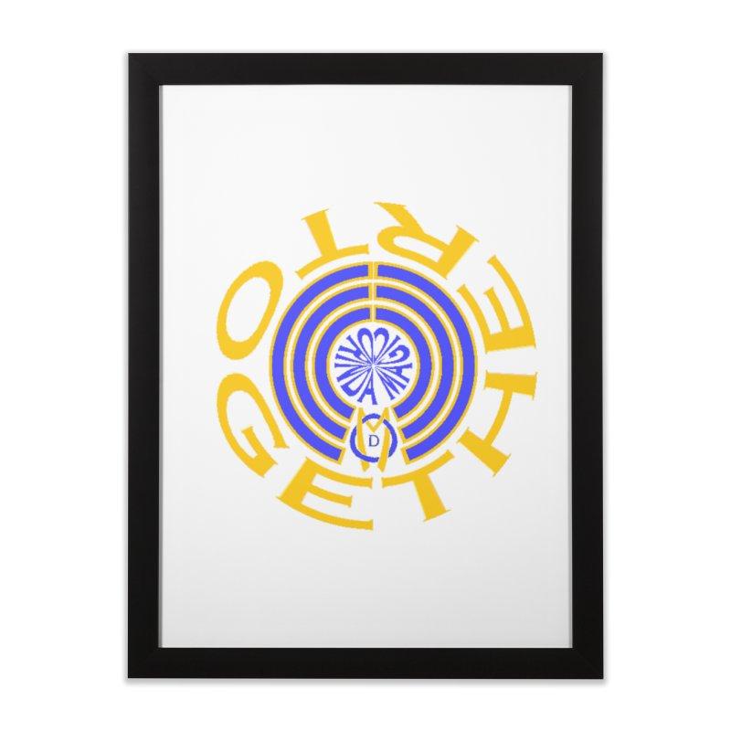 OM Together Swirl Home Framed Fine Art Print by Orinda Magic Spirit Gear