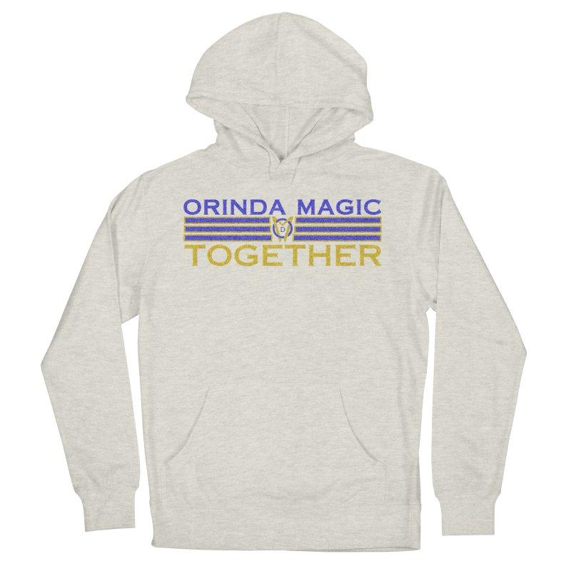 OM TOGETHER NOISY Women's French Terry Pullover Hoody by Orinda Magic Spirit Gear