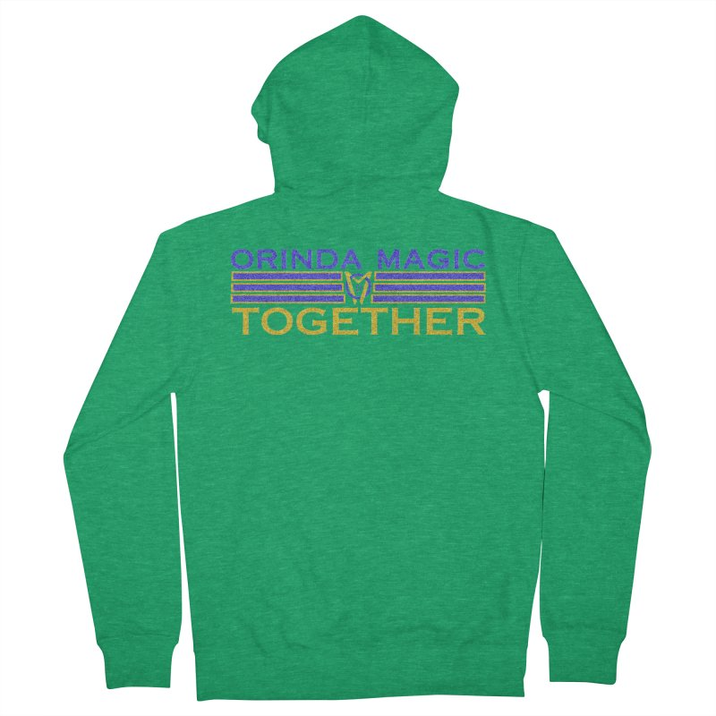 OM TOGETHER NOISY Women's French Terry Zip-Up Hoody by Orinda Magic Spirit Gear