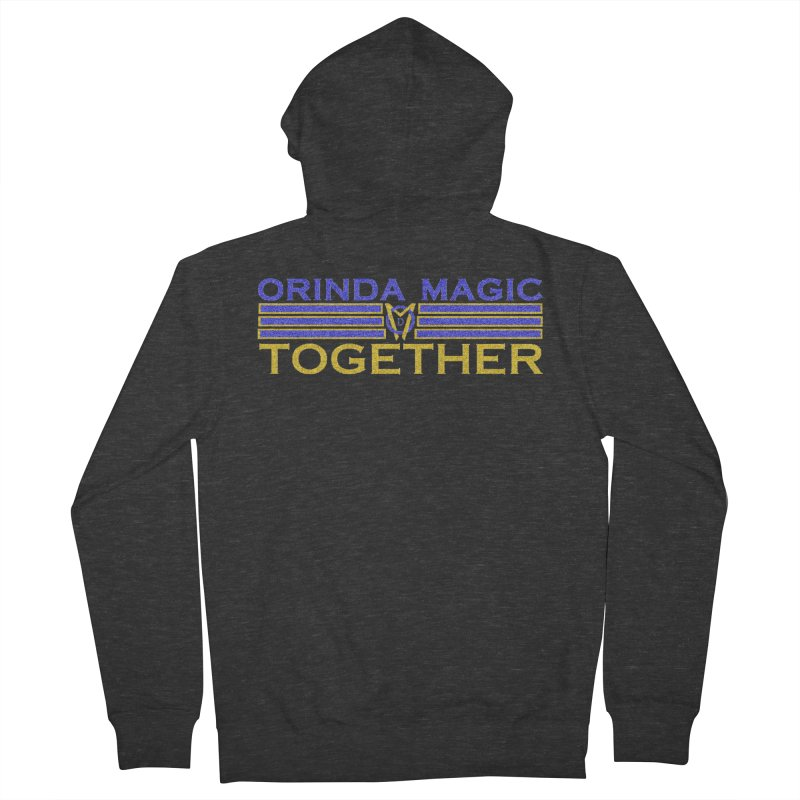 OM TOGETHER NOISY Men's French Terry Zip-Up Hoody by Orinda Magic Spirit Gear