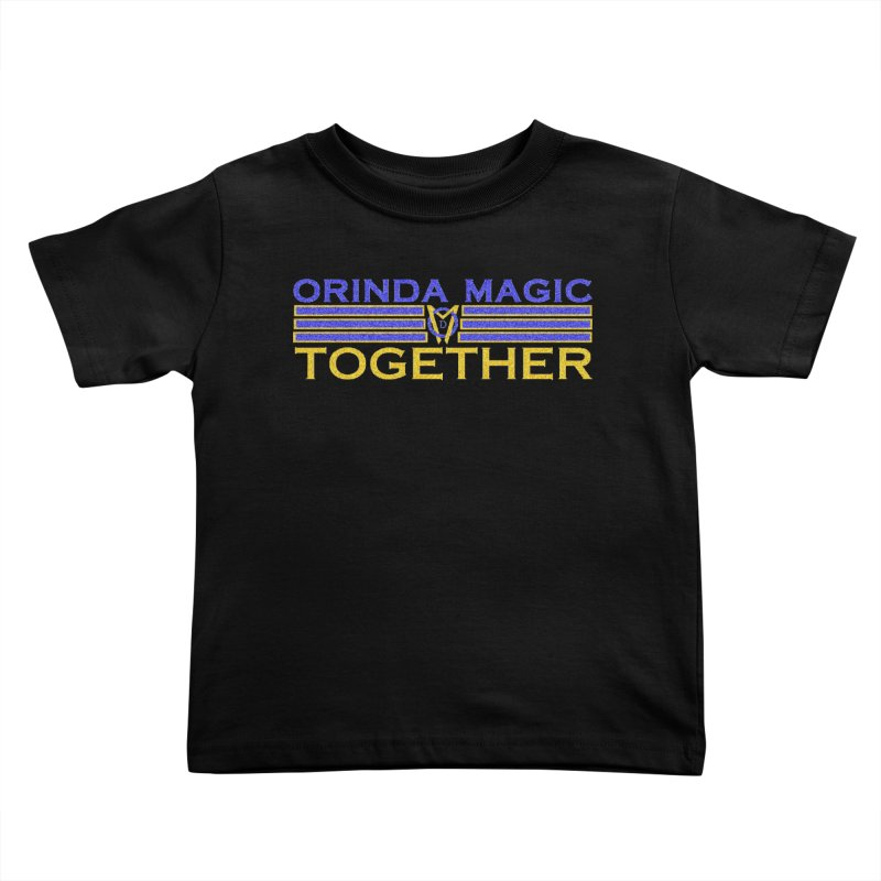 OM TOGETHER NOISY Kids Toddler T-Shirt by Orinda Magic Spirit Gear
