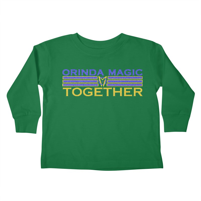 OM TOGETHER NOISY Kids Toddler Longsleeve T-Shirt by Orinda Magic Spirit Gear