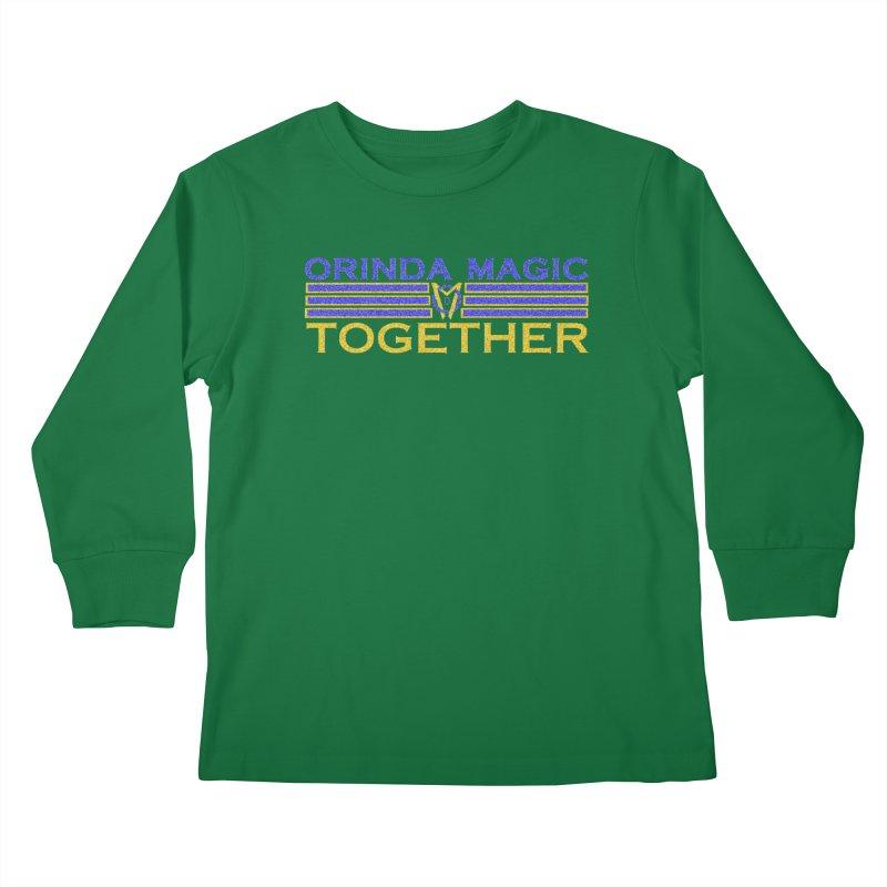 OM TOGETHER NOISY Kids Longsleeve T-Shirt by Orinda Magic Spirit Gear
