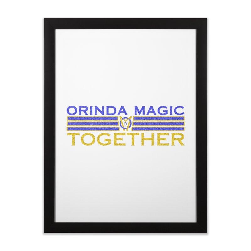 OM TOGETHER NOISY Home Framed Fine Art Print by Orinda Magic Spirit Gear