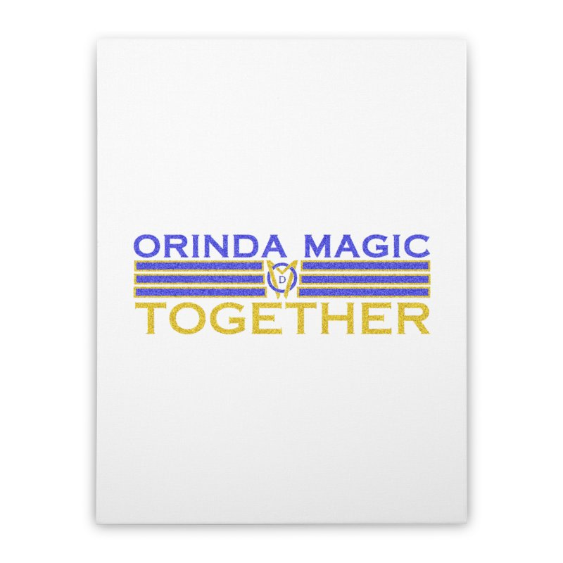 OM TOGETHER NOISY Home Stretched Canvas by Orinda Magic Spirit Gear