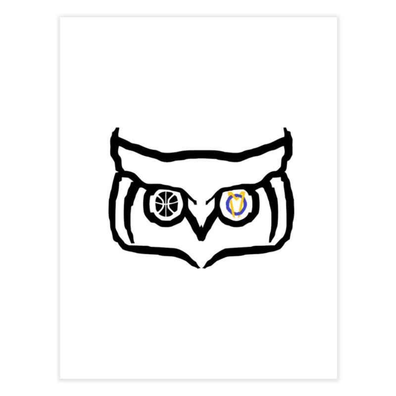 OM Owl Home Fine Art Print by Orinda Magic Spirit Gear