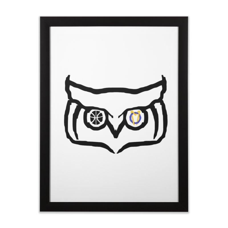 OM Owl Home Framed Fine Art Print by Orinda Magic Spirit Gear