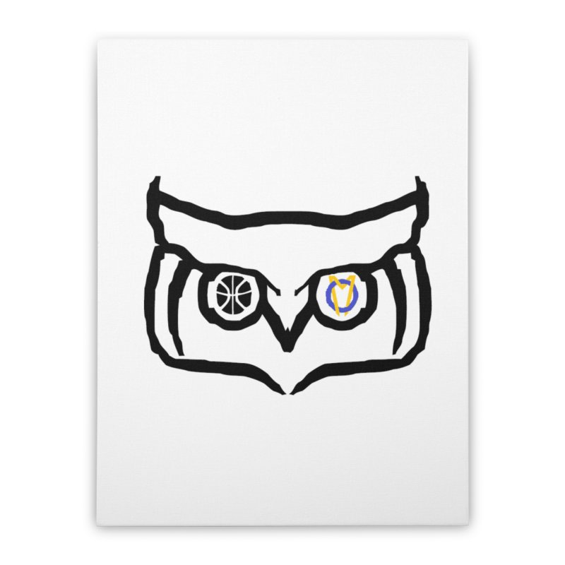 OM Owl Home Stretched Canvas by Orinda Magic Spirit Gear