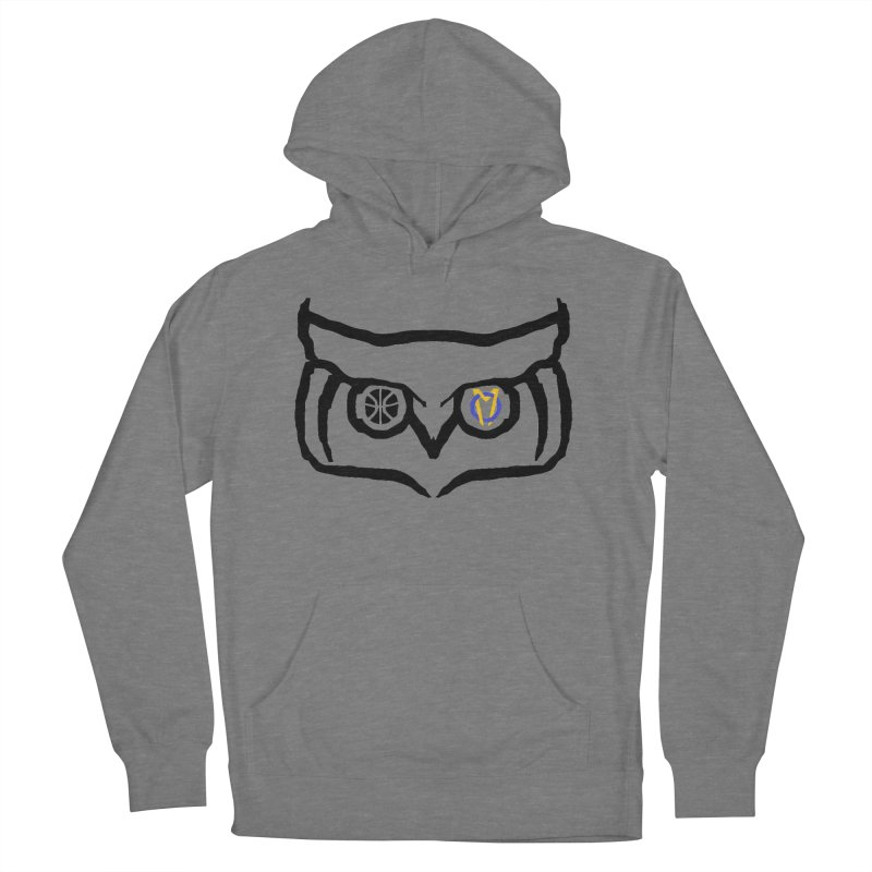 OM Owl Men's French Terry Pullover Hoody by Orinda Magic Spirit Gear