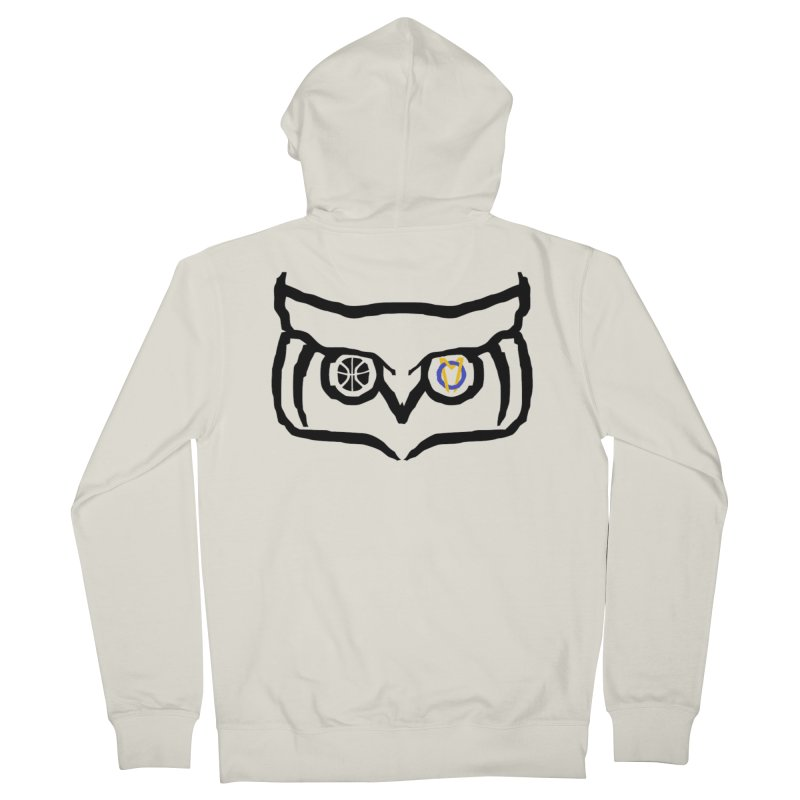 OM Owl Women's French Terry Zip-Up Hoody by Orinda Magic Spirit Gear