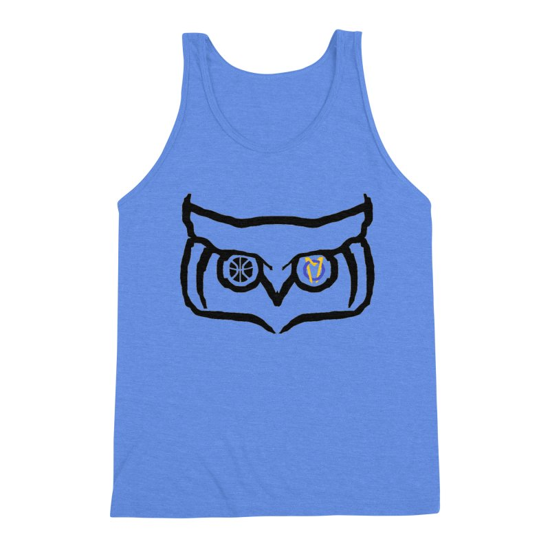 OM Owl Men's Triblend Tank by Orinda Magic Spirit Gear
