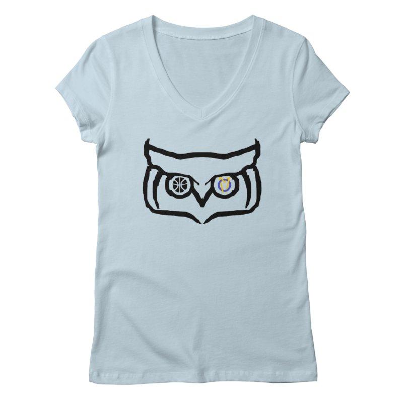 OM Owl Women's Regular V-Neck by Orinda Magic Spirit Gear