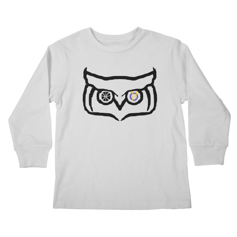OM Owl Kids Longsleeve T-Shirt by Orinda Magic Spirit Gear