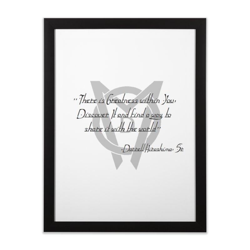 Greatness w/in You Home Framed Fine Art Print by Orinda Magic Spirit Gear