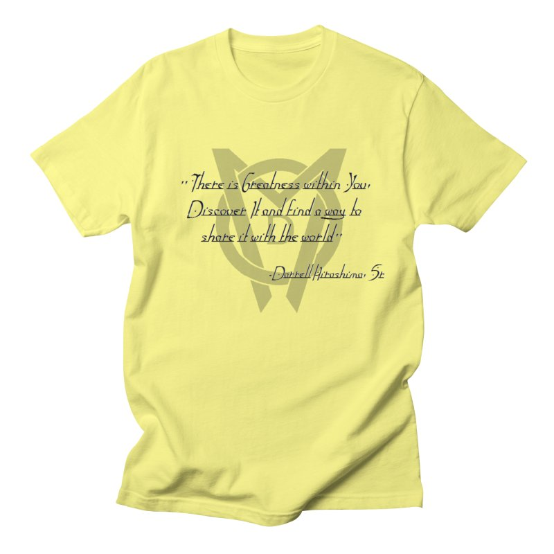 Greatness w/in You Men's T-Shirt by Orinda Magic Spirit Gear