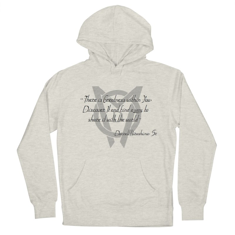 Greatness w/in You Men's French Terry Pullover Hoody by Orinda Magic Spirit Gear