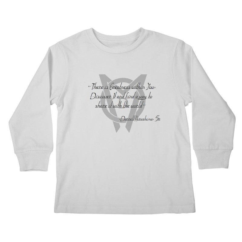 Greatness w/in You Kids Longsleeve T-Shirt by Orinda Magic Spirit Gear