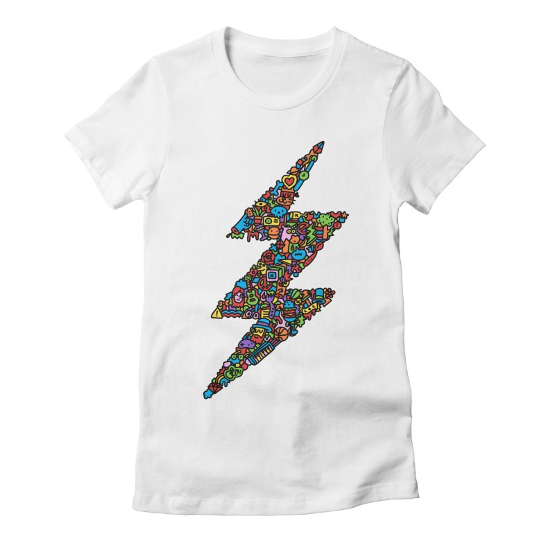Bolt Women's Fitted T-Shirt by Orlando Soy Yo!