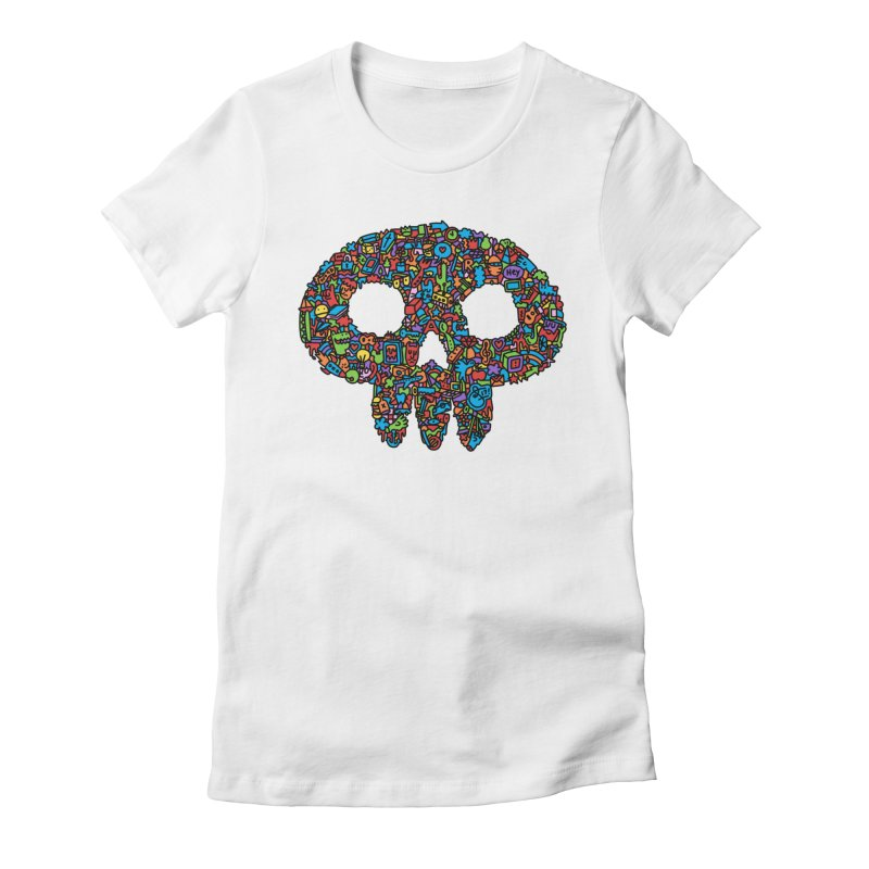 Skull Women's Fitted T-Shirt by Orlando Soy Yo!